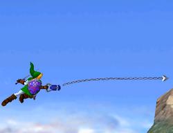 Agarre aéreo de Link SSBM