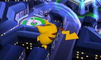 Ataque aéreo superior Pikachu SSB4 (3DS)