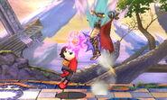 Karateka Mii usando Patadas relámpago SSB4 (3DS) (3)