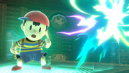 Ness usando Destello PSI SSBU