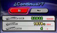Pantalla de Continuar en Super Smash Bros. para Nintendo 3DS