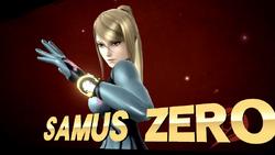 Pose de victoria de Samus Zero (2-2) SSB4 (Wii U)