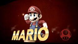 Pose de victoria hacia abajo (3) Mario SSB4 (Wii U)