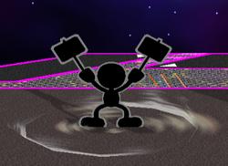 Ataque Smash hacia abajo Mr. Game & Watch (1) SSBM