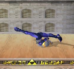 Ataque Smash hacia abajo de Sheik (3) SSBM