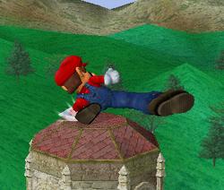Ataque fuerte hacia abajo de Mario SSBM