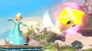 Estela usando el Luma Shot SSB4 (Wii U)