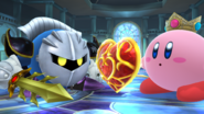 Meta Knight junto a Kirby en la Liga Pokémon SSB4 (Wii U)