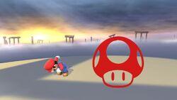 Pose de victoria hacia abajo (1) Mario SSB4 (Wii U)