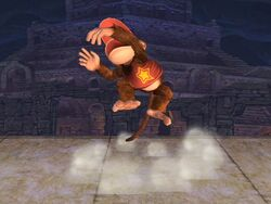 Ataque fuerte superior Diddy Kong SSBB