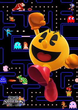 Ilustracion de Pac-Man SSB4