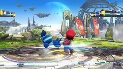 Lanzamiento hacia atrás de Mario SSB4 (Wii U)