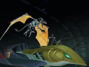 Meta Ridley y Captain Falcon en el Falcon Flyer