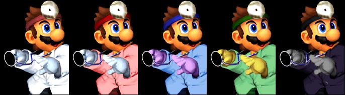 Paleta de colores Dr. Mario SSBM