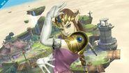 Zelda viendo hacia el frente en Altárea SSB4 (Wii U)