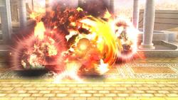 Brazal radial haciendo estallar una caja explosiva SSB4 (Wii U)