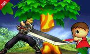Cloud y el Aldeano en las Llanuras de Gaur SSB4 (3DS)