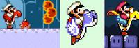 Habilidades de Yoshi en Super Mario World