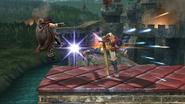 Lanzamiento trasero de Ike (2) SSB4 (Wii U)