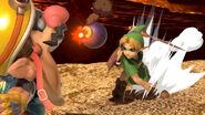 Young Link y Wario en el Castillo asediado SSBU
