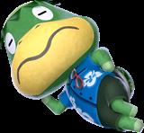 Art Oficial del Capitán en Animal Crossing New Leaf