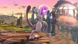 Ataque Smash hacia abajo Mewtwo (1) SSB4 (Wii U)