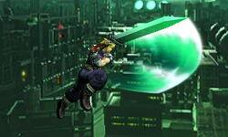 Ataque aéreo hacia atrás Cloud SSB4 (3DS)