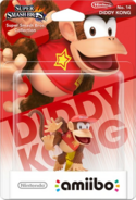 Embalaje del amiibo de Diddy Kong