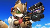 Fox y el nuevo modelo de su Blaster SSB4 (Wii U)