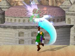 Lanzamiento hacia arriba de Link (2) SSBM