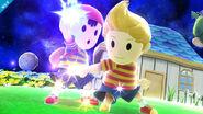Ness y Lucas en Galaxia de Mario SSB4 (Wii U)