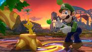 Pikmin y Luigi en Campo de Batalla SSB4 (Wii U)