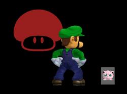 Pose de victoria Luigi Y (1) SSBM