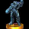 Trofeo de Samus Oscura SSB4 (3DS)