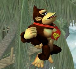 Ataque aéreo hacia arriba de Donkey Kong (1) SSBM