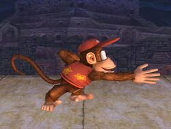 Ataque normal Diddy Kong SSBB (1)