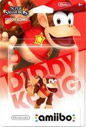 Embalaje del amiibo de Diddy Kong (América)