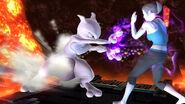 Mewtwo y la Entrenadora de Wii Fit en Norfair SSB4 (Wii U)