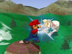 Lanzamiento delantero de Mario (2) SSBM