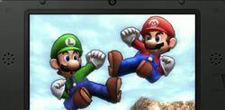Luigi y Mario en Valle Gerudo SSB4 (3DS)