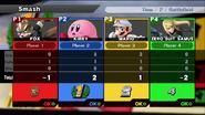Pantalla de Resultados SSB4 (Wii U)