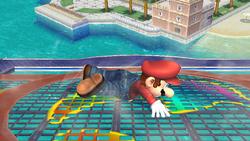 Ataque Smash hacia abajo (2) Mario SSBB