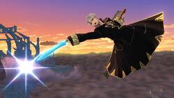 Ataque aéreo hacia atras (2) Robin SSB4 (Wii U)