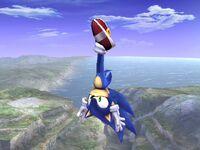 Ataque aéreo superior Sonic SSBB