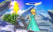 Ataque fuerte hacia arriba de Estela y Destello SSB4 (3DS)