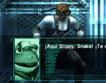 Slippy conversando con Snake SSBB