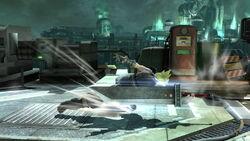 Ataque Smash hacia abajo Cloud (1) SSB4 (Wii U)
