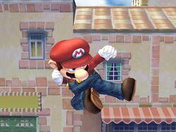 Ataque aéreo normal Mario SSBB