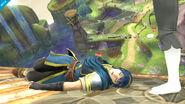 Marth y la Entrenadora de Wii Fit en Neburia SSB4 (Wii U)