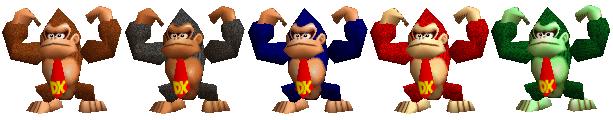 Paleta de colores Donkey Kong SSB
